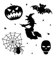 Halloween silhouette set on white background vector image vector image