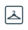Hanger icon Rounded squares button vector image
