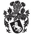 heraldic silhouette no9 vector image vector image