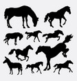 horse animal action silhouette vector image vector image