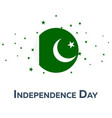 independence day of pakistan patriotic banner vector image