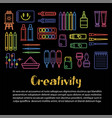 Kids creativity and art design poster of