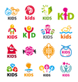 large collection logos children vector image