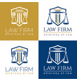 law firm logo column vector image vector image
