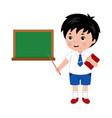 little boy in school uniform vector image vector image