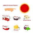 make your own pizza set with ingredients - pizza vector image vector image