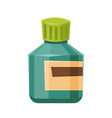 medicine bottle with label for drugs tablets vector image