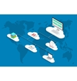 modern cloud services flat background vector image vector image