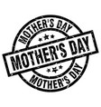 mothers day round grunge black stamp vector image vector image