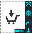 online shopping icon flat vector image