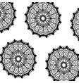 pattern monochrome flowers mandala decorative vector image vector image