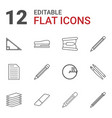 pencil icons vector image vector image