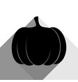 pumpkin sign black icon with two flat vector image