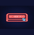 recommend neon icon white label recommended vector image vector image