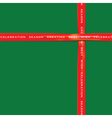 Red Ribbon on green color paper for festival vector image vector image