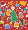 seamless background christmas 1 vector image