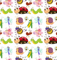 Seamless insects vector image