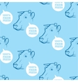 Seamless Pattern with cow vector image vector image