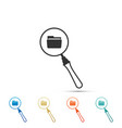 search concept with folder icon isolated vector image vector image