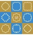 set abstract hipster logo badges frames vector image vector image