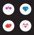 set of wedding icons flat style symbols with vector image