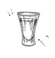 shot glass drawing tequila vodka cocktail vector image vector image