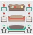 Sofas Set Flat Side Table vector image vector image
