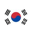south korea flag korean national icon symbol vector image vector image