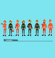 the fire brigade in bright work clothes vector image