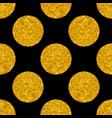 tile pattern with big golden polka dots on black vector image