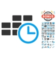 Time Table Icon With 2017 Year Bonus Symbols vector image vector image