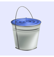 Tin Bucket vector image