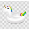 unicorn swimming pool ring transparent background vector image