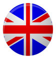 United Kingdom of Great Britain flag icon flat vector image