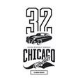 vintage gangster vehicle logo vector image vector image