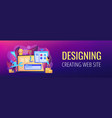 web development header or footer banner vector image vector image