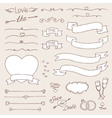 wedding vintage set of design elements vector image vector image