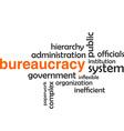 word cloud bureaucracy vector image vector image