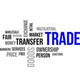 word cloud trade vector image vector image