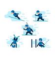 winter games skiing vector image