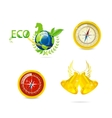 abstract eco and travel symbols set vector image