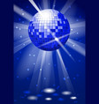 dance club party background with disco ball vector image