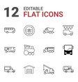 12 auto icons vector image vector image