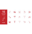 15 hose icons vector image vector image