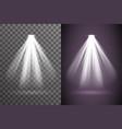 abstract scene spotlight glow light bright vector image vector image