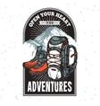 adventure lettering emblem print vector image