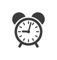 alarm clock icon on white background vector image