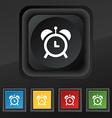 alarm clock icon symbol Set of five colorful vector image vector image