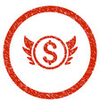 angel investment rounded grainy icon vector image vector image