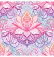 art seamless pattern lotus flower mandala ethnic vector image